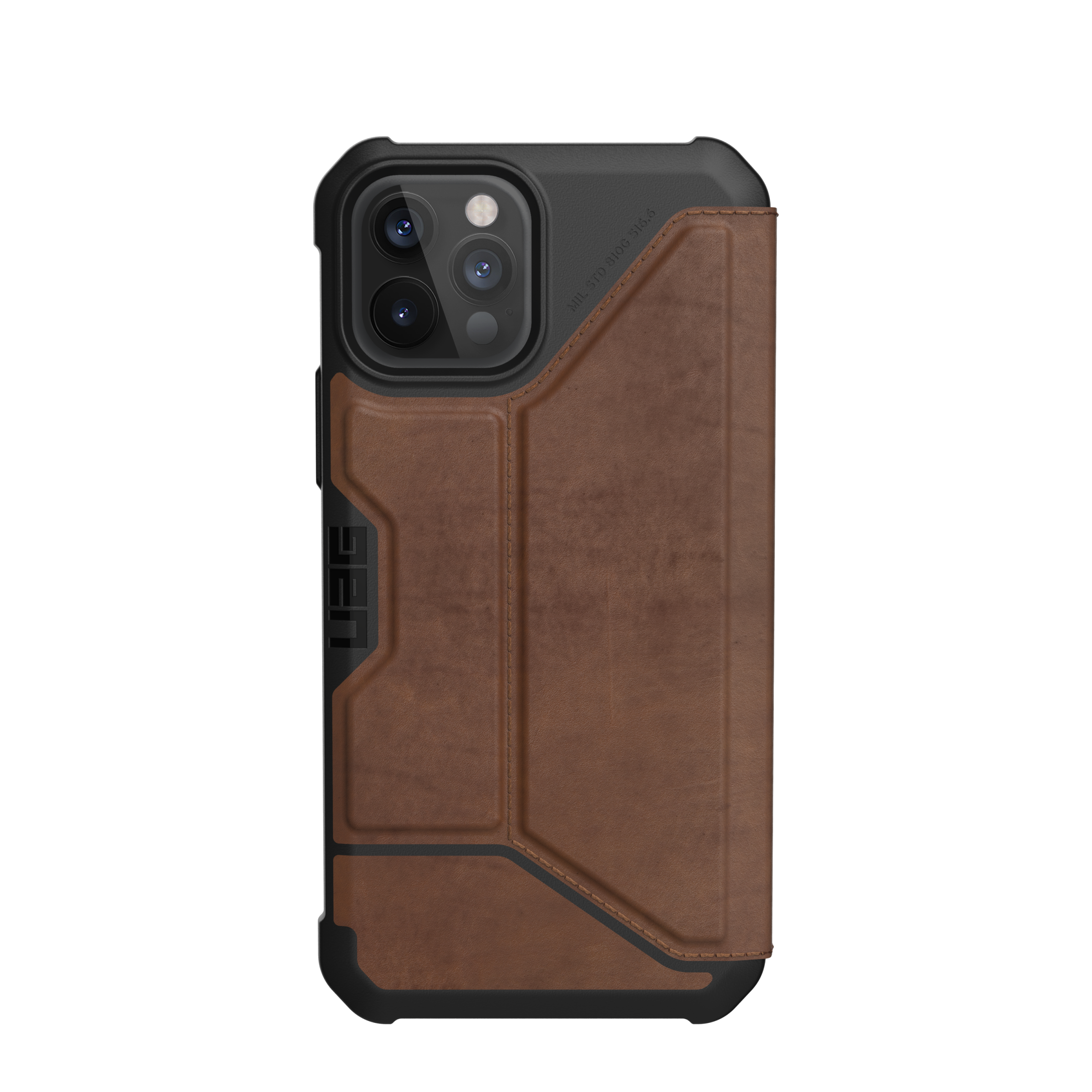 Metropolis Wallet Case iPhone 12 Pro Max Leather Brown