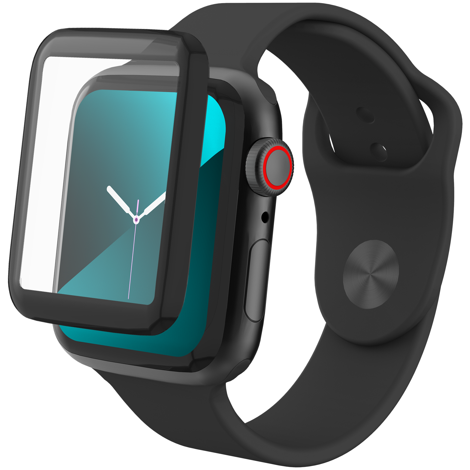 InvisibleShield Glass Fusion Apple Watch 44mm Black
